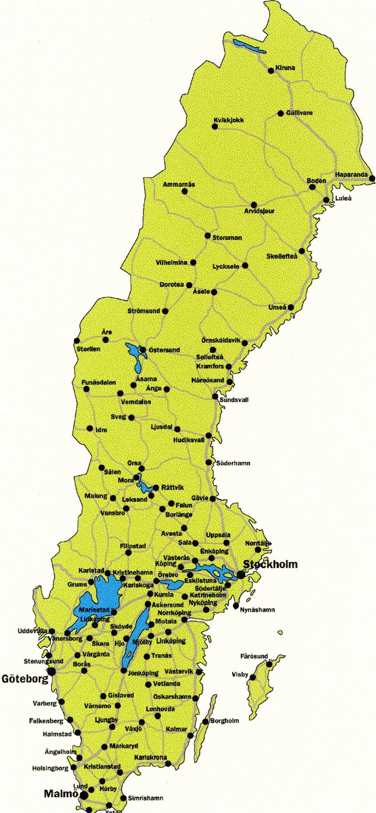 Travel Guide Map Of Sweden Cities Pictures - Varberg sweden map