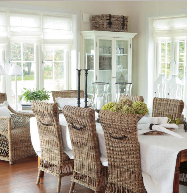 Annas vita hus new hampton new england for Dining room inspiration ideas