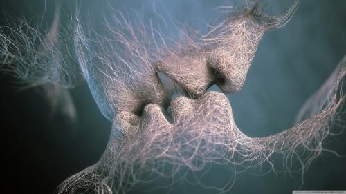 Romantic Kiss Wallpaper