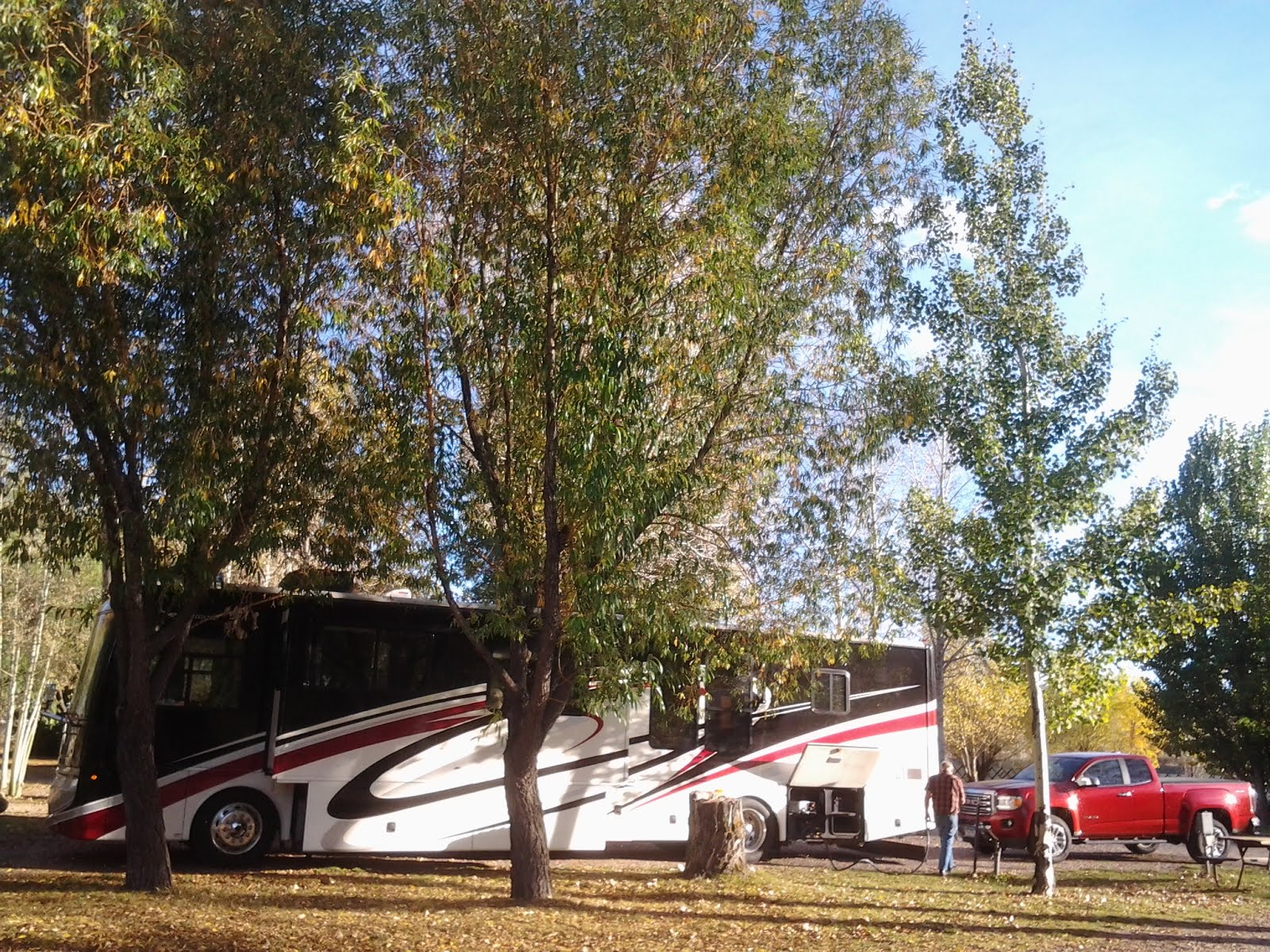 2015 Evanston WY, Our Excursion coach and Canyon