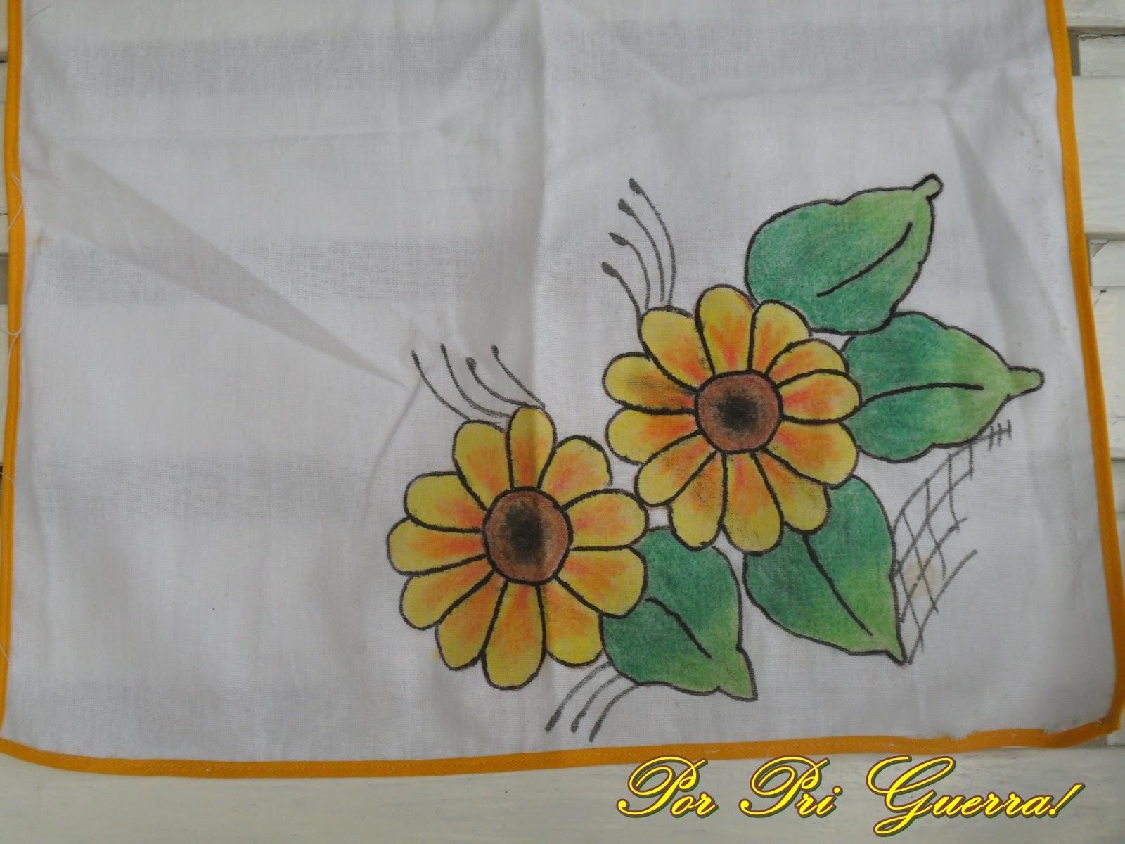 Well-known Marias do Lar: Pintura com giz de cera em tecido! NE56