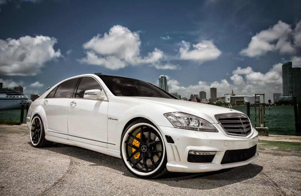 Mercedes benz w221 s65 amg white on black benztuning for White mercedes benz