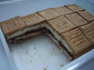 Mattonella di Biscotti e Crema al Latte