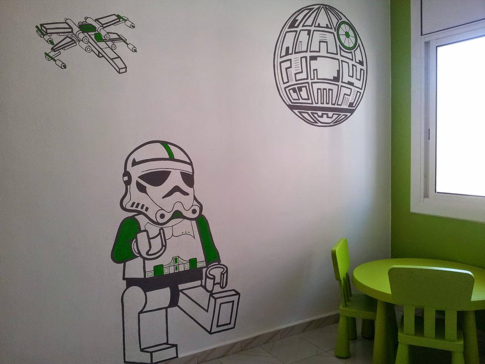Murales y reflejos - Habitacion infantil verde ...