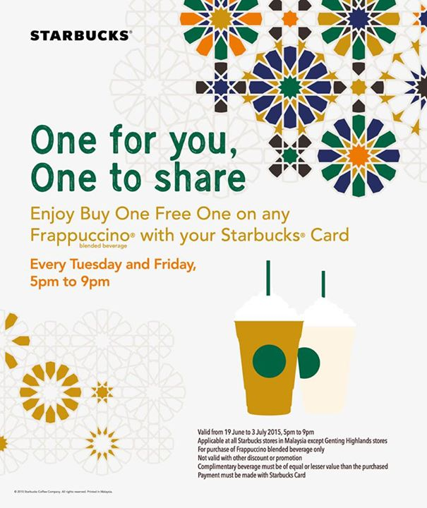 Current STARBUCKS offer!