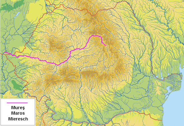 Sursa wikipedia.org - Raul Mures de la izvorare din Romania pana la varsare in Tisa - Ungaria