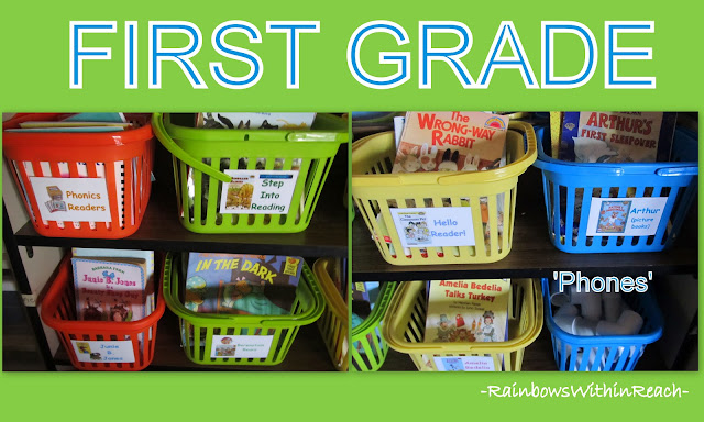 photo of: Classroom Reading Library in First Grade Classroom (Organization)