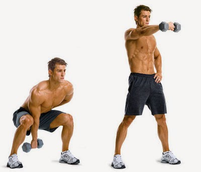 dumbbell swing, dumbbell swing exercise