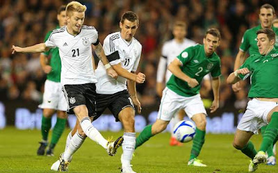 Hasil Pertandingan dan Cuplikan Video Irlandia vs Jerman Tadi Malam