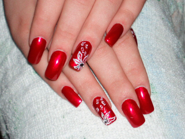 Patterned Full Nail moreover Red Nail Art Designs together with Art