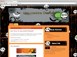 GreySkulls New Templates: Halloween Templates Book Blogger Design