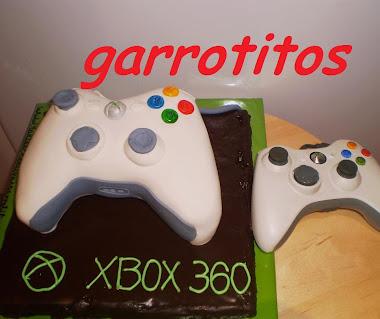 tarta con forma de mando de la X-BOX
