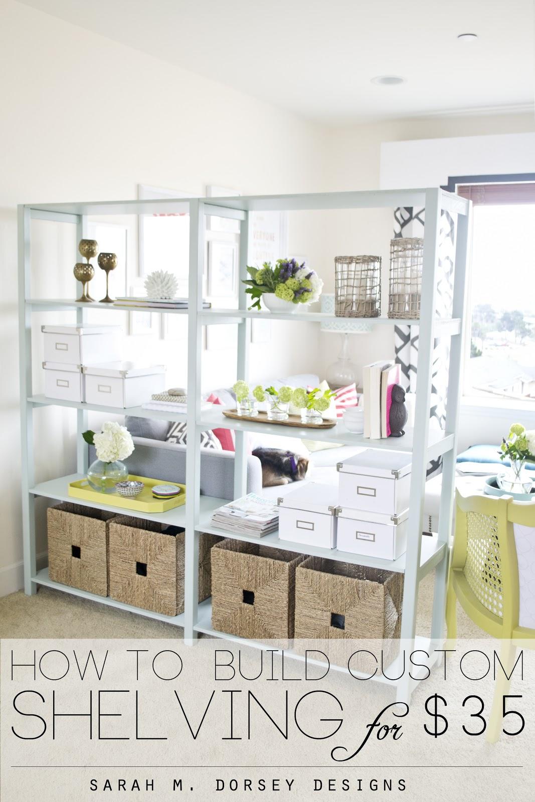 how to build custom shelving for only 35 dorsey designs. Black Bedroom Furniture Sets. Home Design Ideas