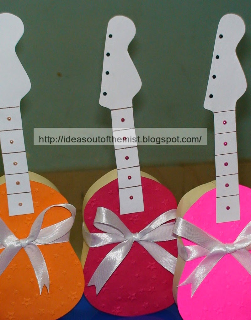 Ideas out of the mist: Birthday invitation cards for boys - Guitar ...