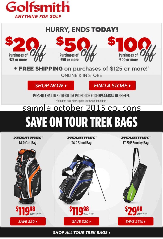 Golfsmith coupon print