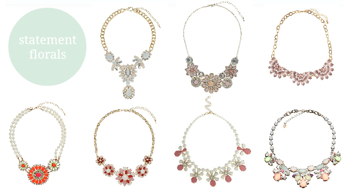 Statement Floral Necklaces Spring