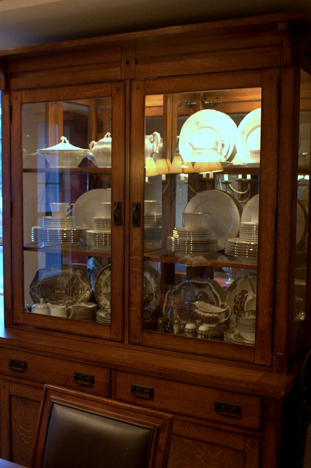 My New Dining Room Hutch Arrived Two Days Before Christmas. I Finally Have  Enough Room To Store My Dishes. My Hubby Says I Have Too Many Different  Sets Of ...