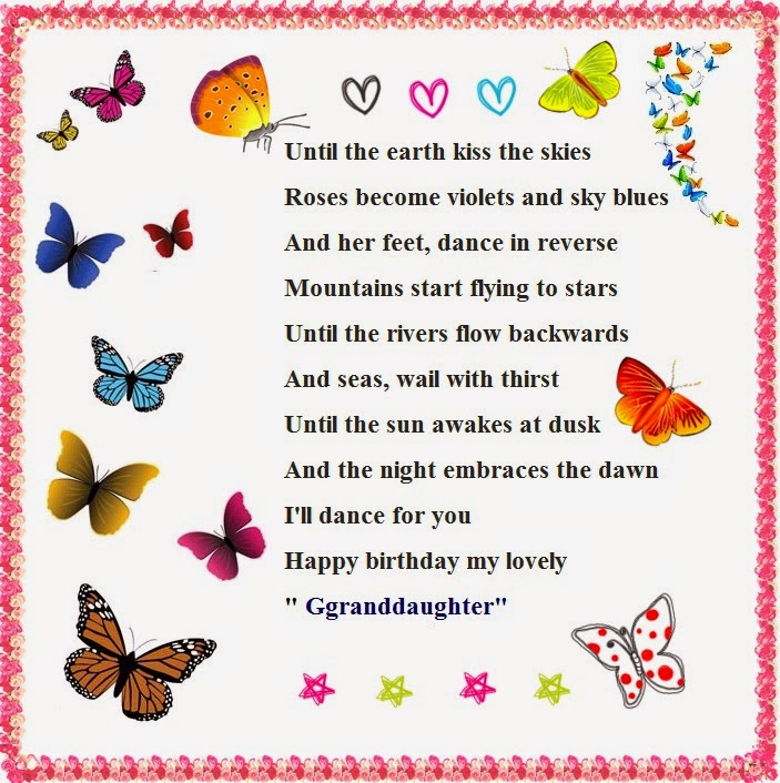 Granddaughter Poems For Birthday Wishes Cute Instagram
