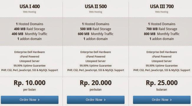 Harga Paket hosting USA