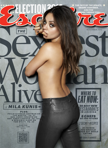 Esquire Magazine November Issue Cover - Mila Kunis Sexiest Woman Alive 2012