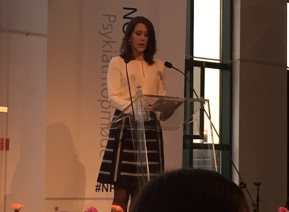"Crown Princess Mary of Denmark attend the opening of the ""Nordic Summit on Mental Health 2015"" at the Ministry of Health building"