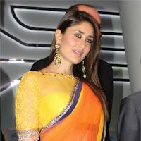 Decorative and Glamorous Kareena latest pic in orange saree hq photo gallery
