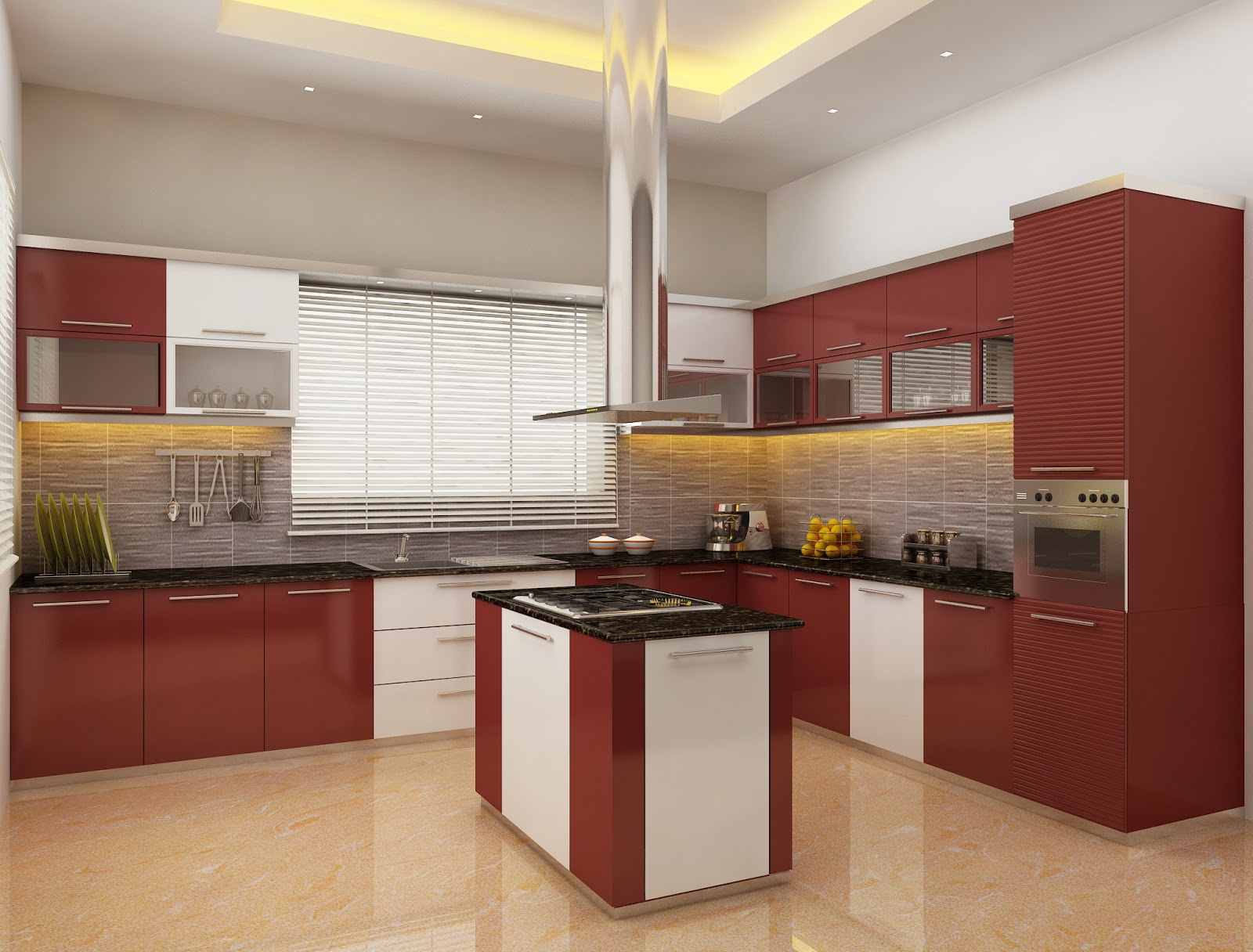 Modern small kitchen design for Kitchen designs kerala