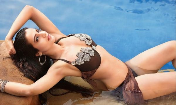 Amisha Patel Hot bikini wallpapers