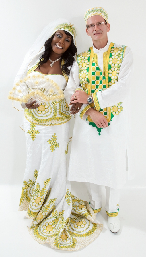 AFRICAN PRINT WEDDING THEME IN CANADA: GREEN, WHITE & GOLD ...