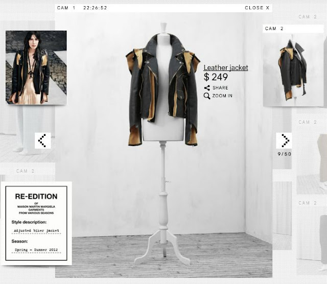 Maison Martin Margiela for hm deconstructed leather jacket, edgy fashion