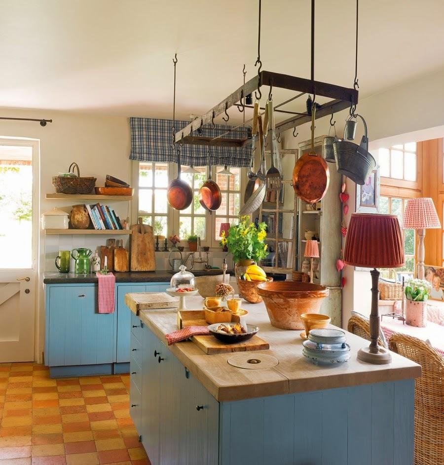 domek na wsi, wnętrza, dom, wystrój wnętrz, styl wiejski, styl rustykalny, kuchnia