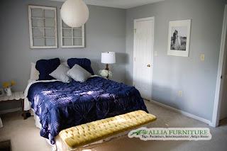 Warna Could Gray abu-abu berawan di ruang kamar tidur