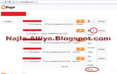 Cara menghapus blogspot