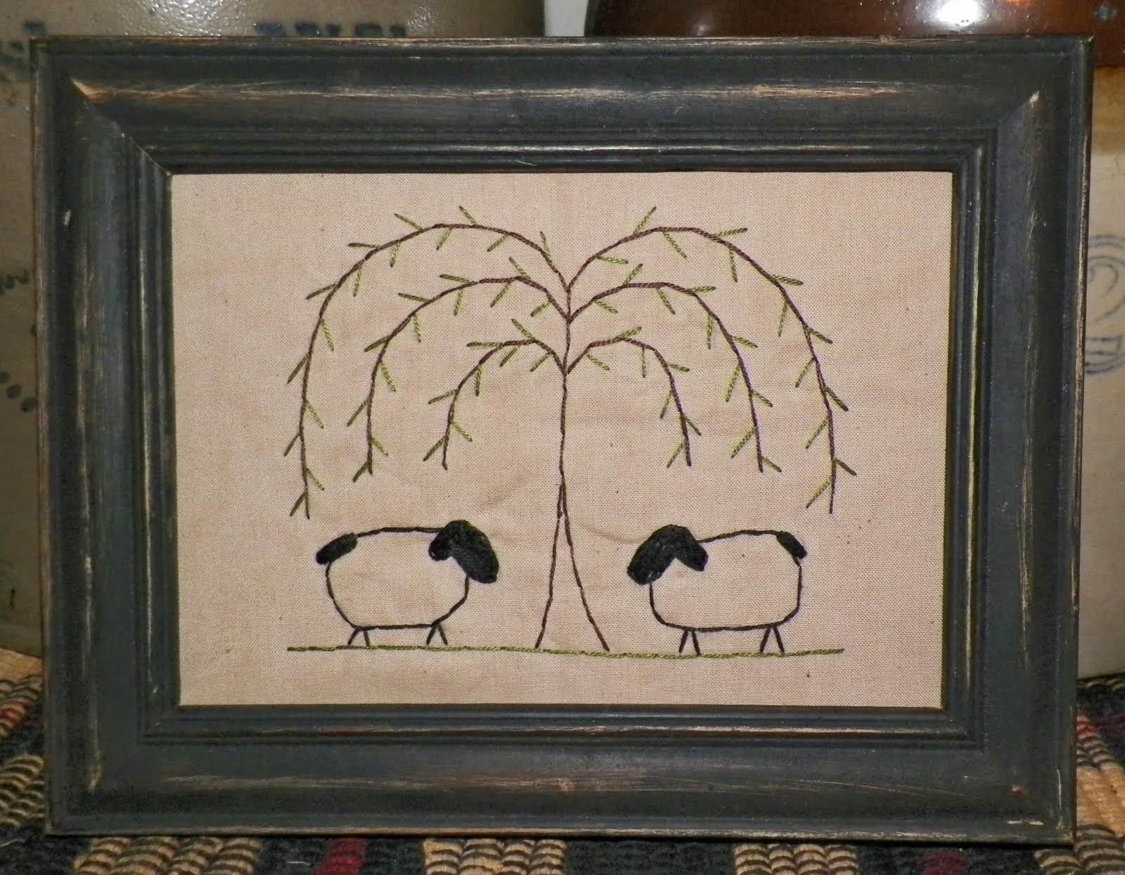 Sheep Stitchery Unframed