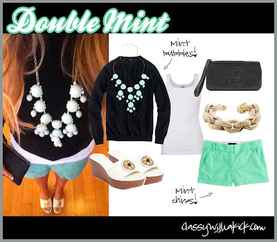 Classy with a Kick: Mint Shorts