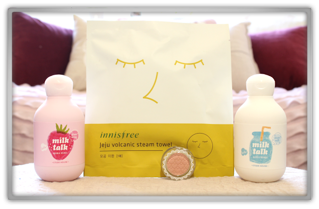 Random Etude House innisfree Haul Review 2015 beauty blogger milk talk strawberry steam afternoon tea look at my eyes Jeju Volcanic Steam Towel