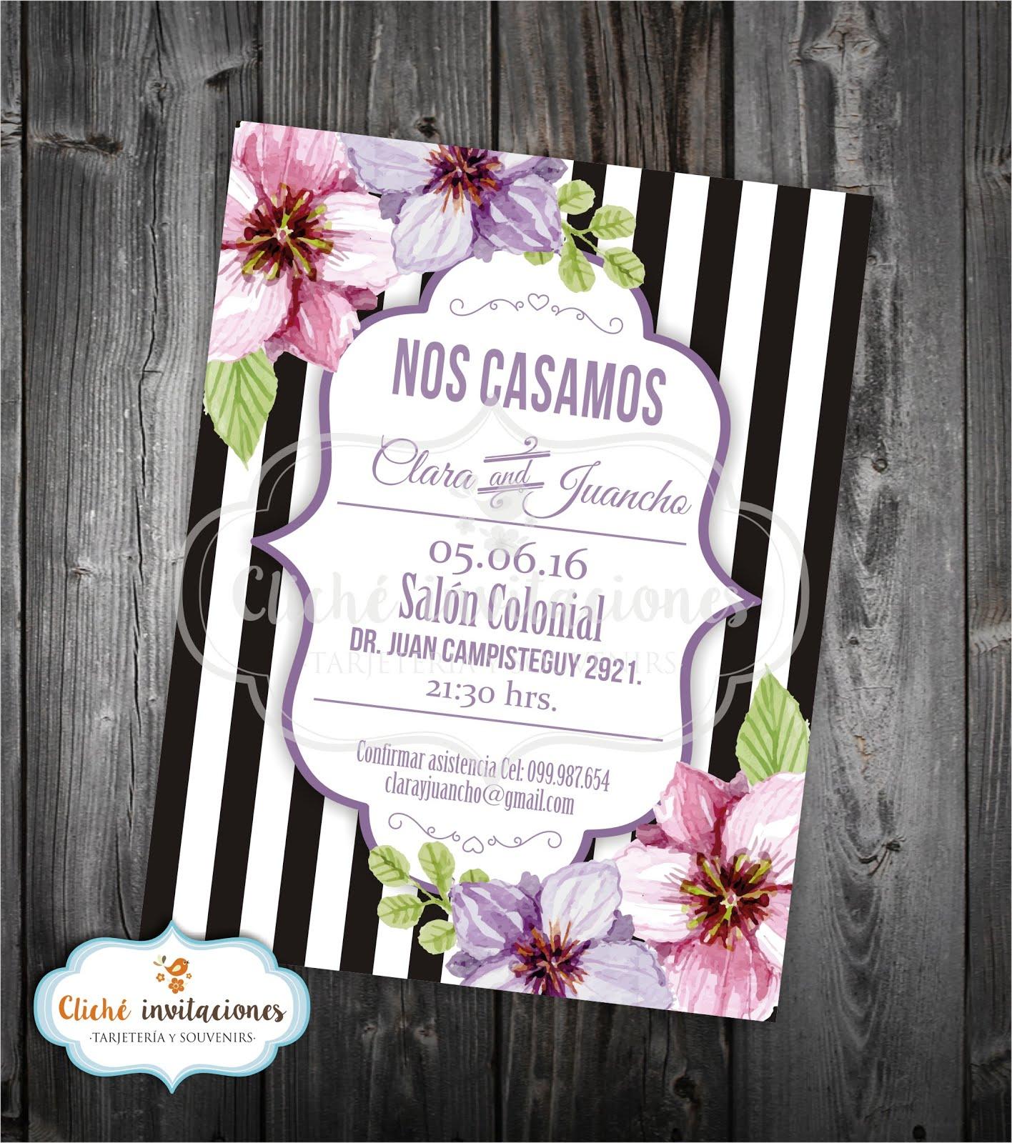 Cliche invitaciones tarjetas de cumplea os invitaciones - Disenos tarjetas de boda ...