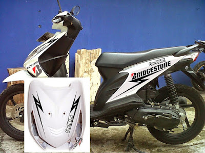 modifikasi stiker honda beat putih