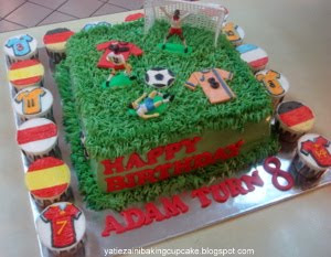 Football Theme birthday Cake