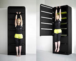 peralatan fitnes multifungsi dengan storage
