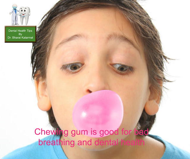chewing gums is goog for the health of teeth