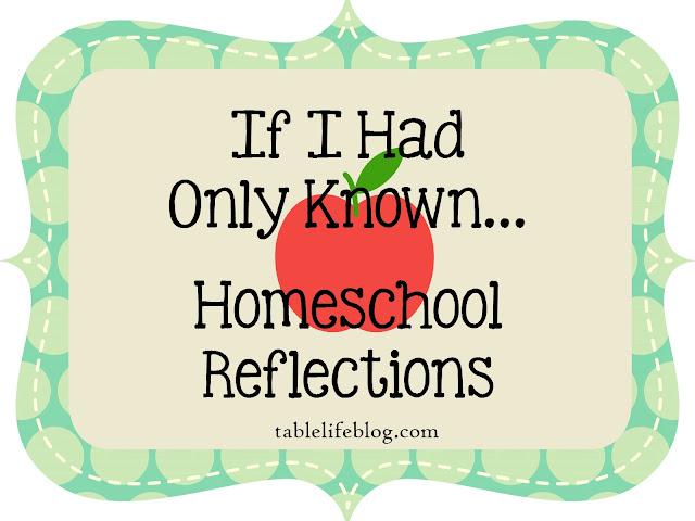 Advice new homeschool reflections