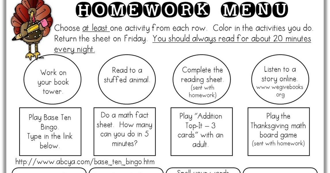 Fist grade homework