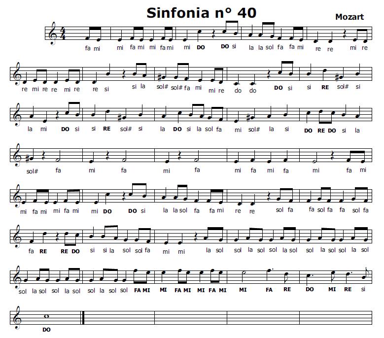 Musica e spartiti gratis per flauto dolce sinfonia n 40 for Crea il mio piano personale gratuito