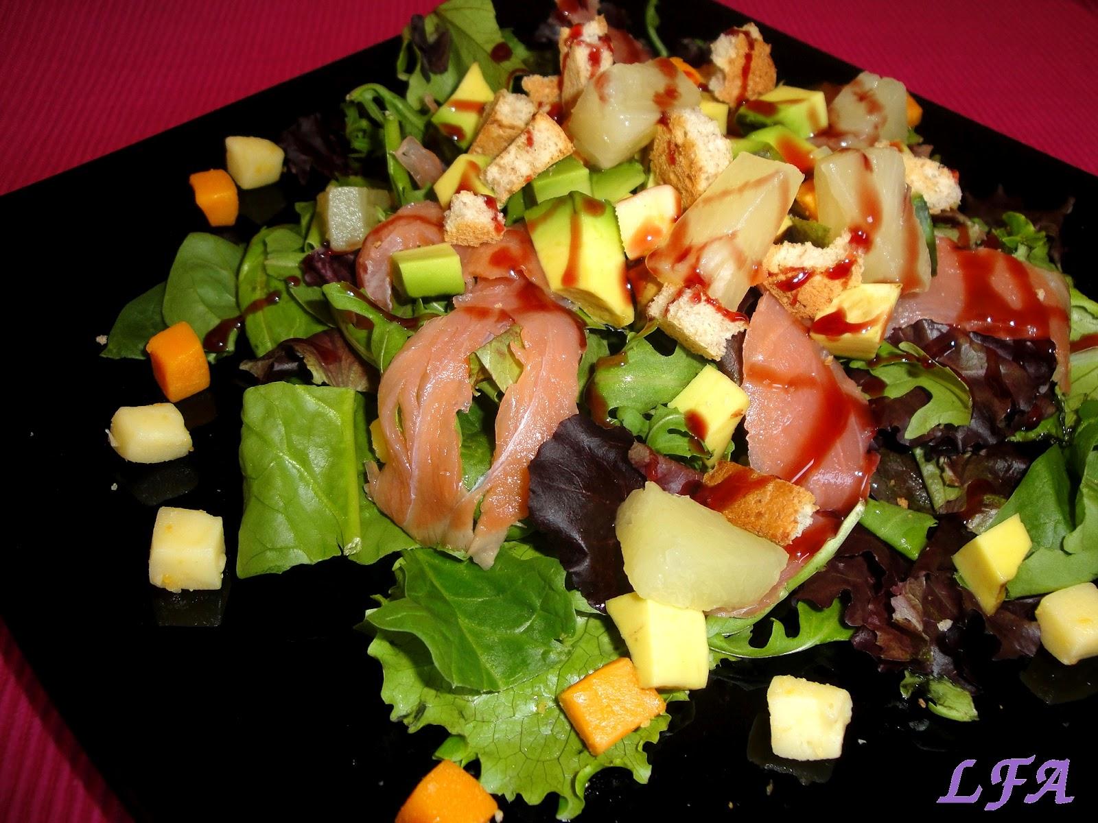 La flor del azafran ensalada de salm n y aguacate - Ensalada con salmon y aguacate ...