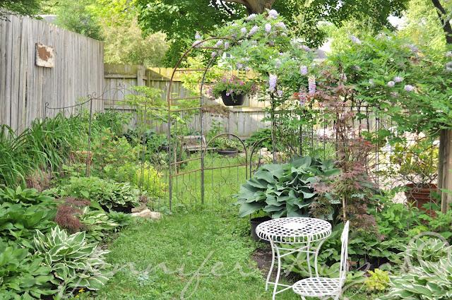 walk through garden path