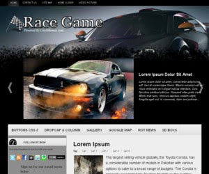 Race Game Blogger Template