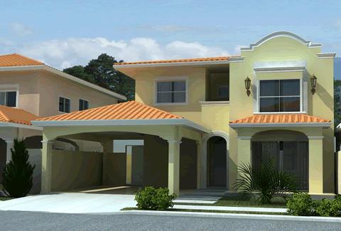 Fachadas de casas pintura para fachadas de casas modernas for Pinturas de frentes de casas colores