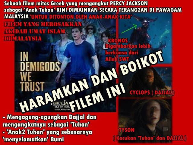 Boikot Haramkan Tayangan Filem Anak Tuhan Dajjal