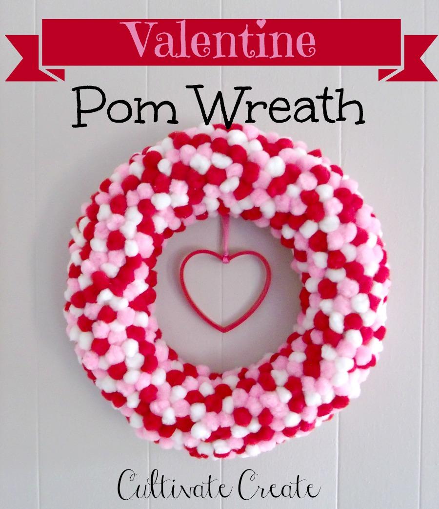 Valentine's Day Pom Wreath